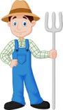 Farmer cartoon. Illustration of Farmer cartoon standing Stock Images