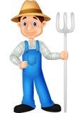 Farmer cartoon. Illustration of Farmer cartoon standing Royalty Free Stock Photos