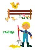 Farmer character cartoon Royalty Free Stock Photo