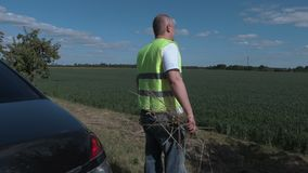 Farmer checking the field stock video footage