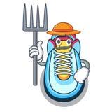 Farmer classic sneaker character style stock illustration