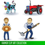 Farmer clip art collection Stock Photos