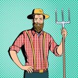 Farmer comics character Stock Photo
