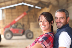 Farmer couple Royalty Free Stock Images