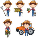 Farmer. Cute and smart farmer performing agricultural activities Royalty Free Stock Photos