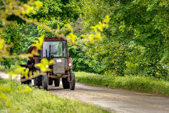 Farmer drives tractor! Royalty Free Stock Photography
