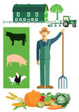 Farmer and farming Royalty Free Stock Images