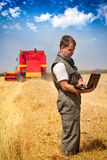 Farmer in a field Stock Photography