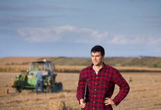 Farmer on field Royalty Free Stock Photography