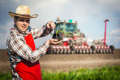 Farmer in the field Royalty Free Stock Images