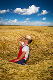 Farmer in field Stock Image
