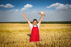 Farmer in field Royalty Free Stock Photos