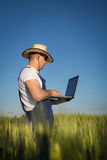 Farmer in field Royalty Free Stock Images