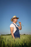 Farmer in field Stock Photos