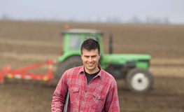 Farmer on field Royalty Free Stock Images