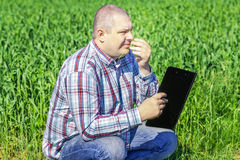 Farmer with folder Stock Images