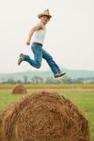 Farmer fooling around Stock Photo