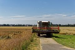 Farmer at harvest in summer. On a sunny day, background, texture stock photos