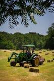 Farmer Haying Field Stock Photography