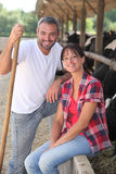 Farmer and his wife stock photography