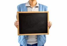 Rancher holding a blackboard royalty free stock photos