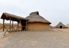 Farmer house in primitive style Stock Photo