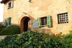 Autumn in italy - farmer house. Farmer house in Italy near the lake Como - Lecco - Montevecchia stock photos