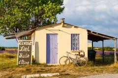 Farmer house near lavender fields near Valensole in Provence, Fr Stock Photo