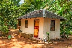 Farmer house in the tropical jungle, Zanzibar, Tanzania Stock Photography