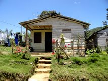 Farmer house. Typical farmer house in Cuba, made from palms wood Royalty Free Stock Photos
