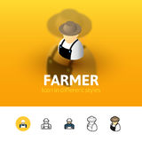 Farmer icon in different style Royalty Free Stock Photo