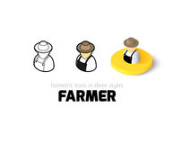 Farmer icon in different style Royalty Free Stock Photography