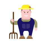 Farmer. Illustration of farmer on white background Royalty Free Stock Photography