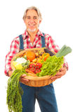 Farmer Isolated On White Stock Image