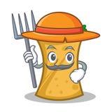 Farmer kebab wrap character cartoon. Vector illustration stock illustration