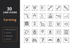 30 Farmer line icon. Farmer line icon. Icons for web interfaces Stock Photography
