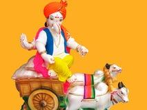 Farmer Lord Ganesha stock image