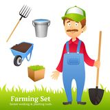 Farmer Man Avatar Stock Photos