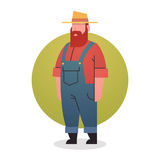 Farmer Man Icon Agriculture Worker Professional Occupation. Flat Vector Illustration Royalty Free Stock Photography