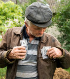 The farmer with money in his jacket Royalty Free Stock Photo