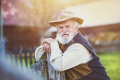 Farmer outside in nature Royalty Free Stock Photos