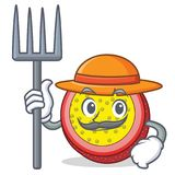 Farmer passion fruit character cartoon. Vector illustration Stock Photography