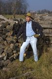 Farmer with Proud Pose Royalty Free Stock Images