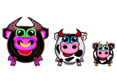 Farmer's collection - cows royalty free stock photo
