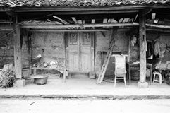 Farmer's cortyard5. Farmer's cortyard, winnower and other tools. taken in Sichuan Province, China.Leica mp M35F1.4,Tmax100 Royalty Free Stock Image