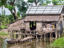 Farmer's house in Myanmar Royalty Free Stock Image