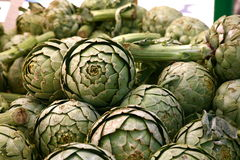 Farmer's Market Artichokes Stock Photography