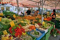 Farmer´s market. Bamberg, Germany. Typical farmer´s market in bavarian town Stock Images