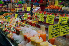 Farmer`s market. In Barcelona Stock Images