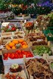 Farmer`s market in Freiburg stock image